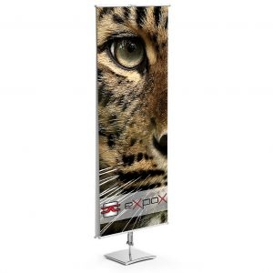 Classic Banner Stand | Double Sided | Square Base
