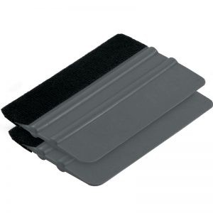 Felt Edge Squeegee for Wrapping with Removable Felt