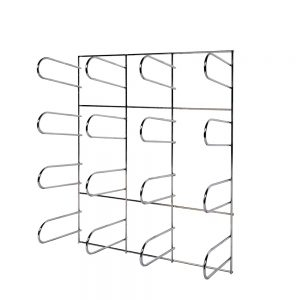 Vinyl Roll Wall Mount Storage Rack | Chrome Plated | 16 rolls