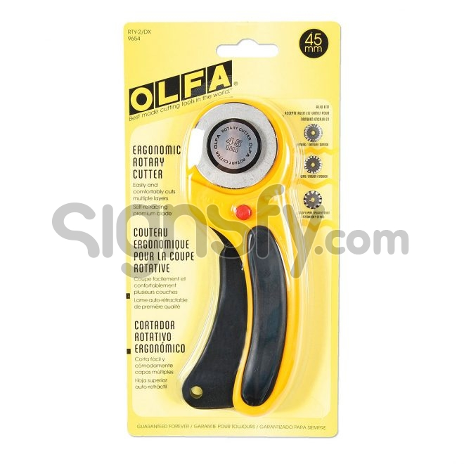 OLFA Rotary Cutter   45 mm   Deluxe Handle Rotary Cutter