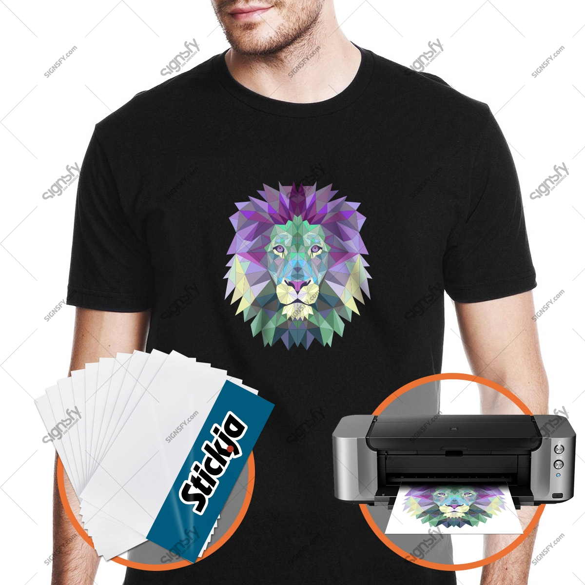 picture about Printable Tshirt Transfers known as A4 Darkish Inkjet Printable Warm Move Paper 20 sheets