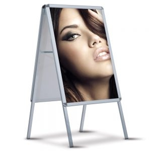 Aluminum Poster Stand, Double Sided, A-Board - PS2