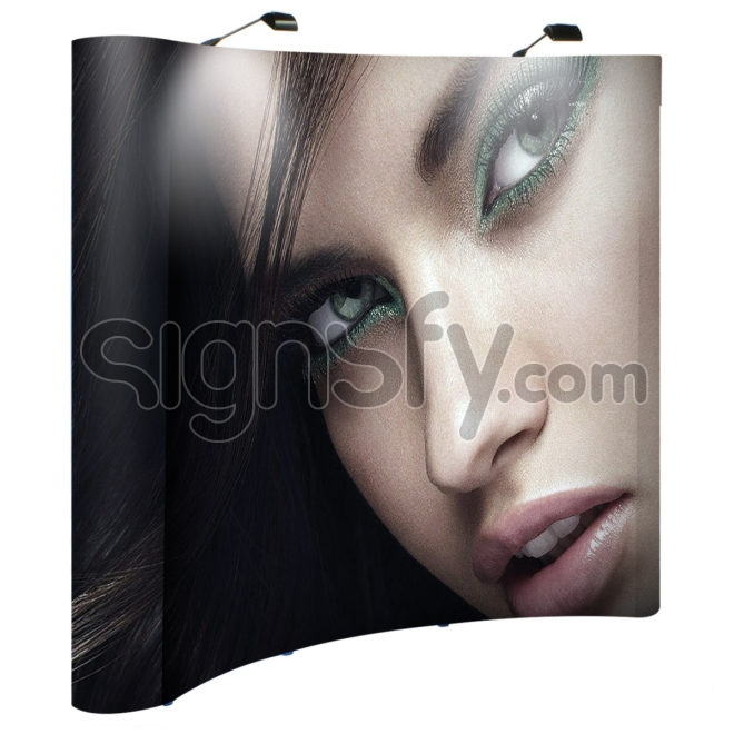 Curved Pop up Backdrop - Styrene Cover