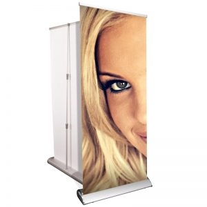 Roll up banner stand deluxe, single sided, retractable, rp18